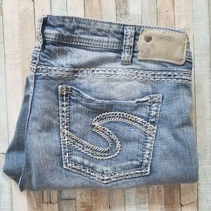 Silver Aiko Mid Capri Jeans